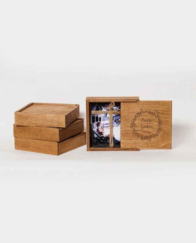 Fotótartó doboz rétegelt fából
