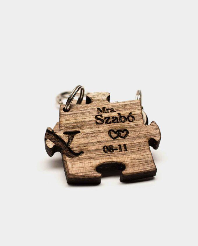 Puzzle kulcstartó fából
