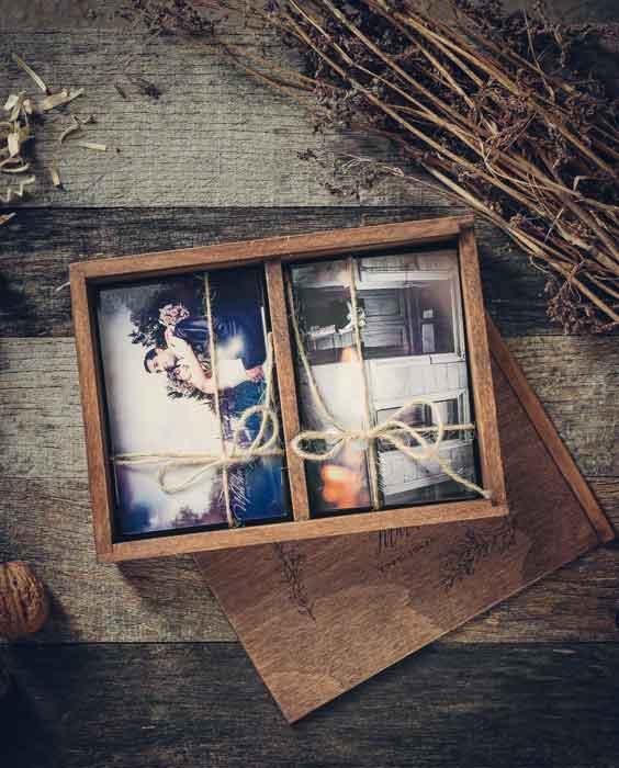 Egyedi fotódoboz fából