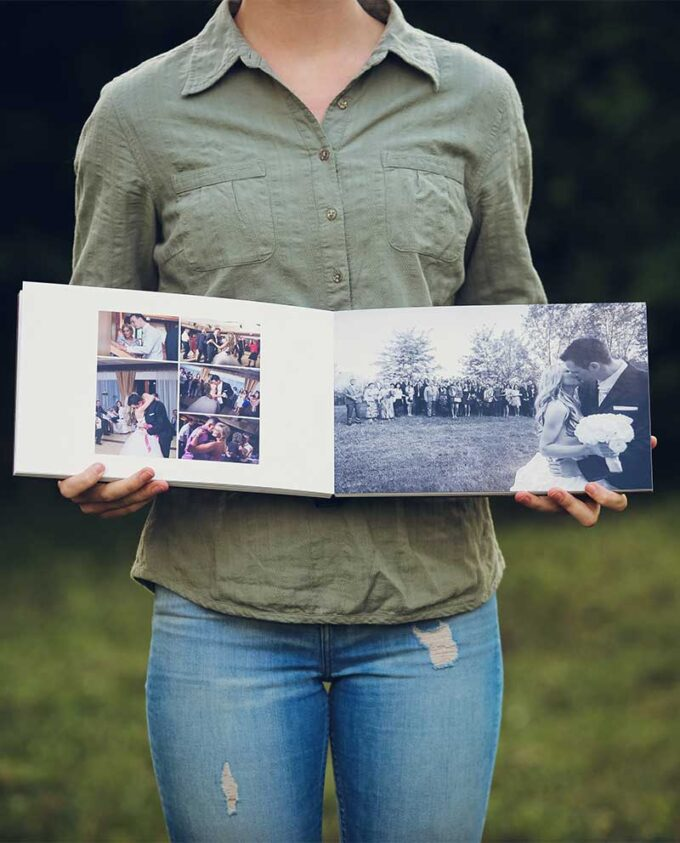 Közepes, exkluzív fotókönyv